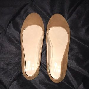 Camel colored flats